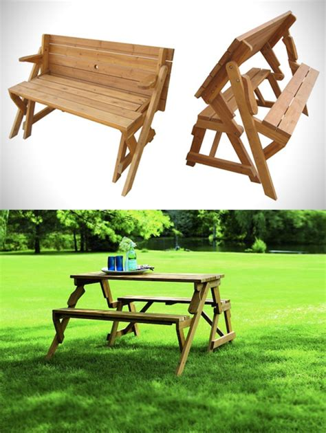 picnic table that turns into a bench benches that turn into tables stinginpink