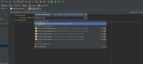 theme editor in android studio how to open theme editor in android studio stack overflow
