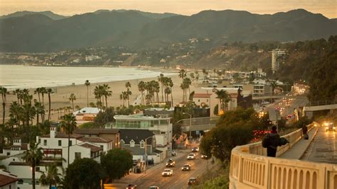 Pch Traffic Santa Monica - los angeles palm trees footage page 3 stock clips videos