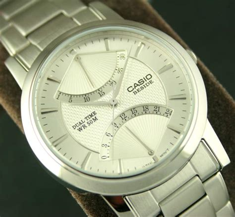 Casio Beside Bem 109d 7avdf other watches casio beside dual time jump date 50m