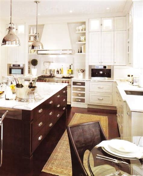 white or brown kitchen cabinets brown kitchen island transitional kitchen