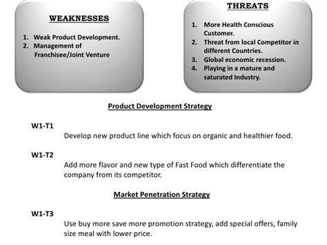 Analysis Of Product Development At by Mc D Swot Analysis
