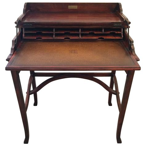 folding writing desk exquisite caign style mahogany and leather folding writing desk for sale at 1stdibs