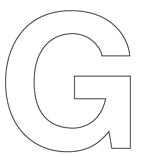 free the letter g coloring pages