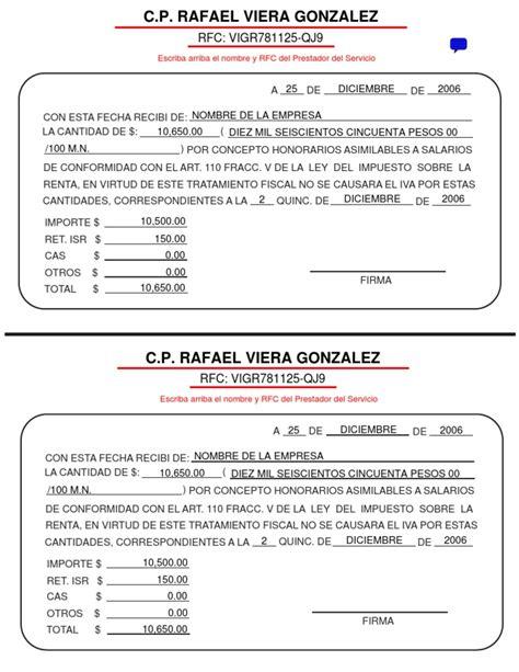 recibos de asimilados a salarios 2016 gardenamissioncom formato honorarios asimilables a salarios