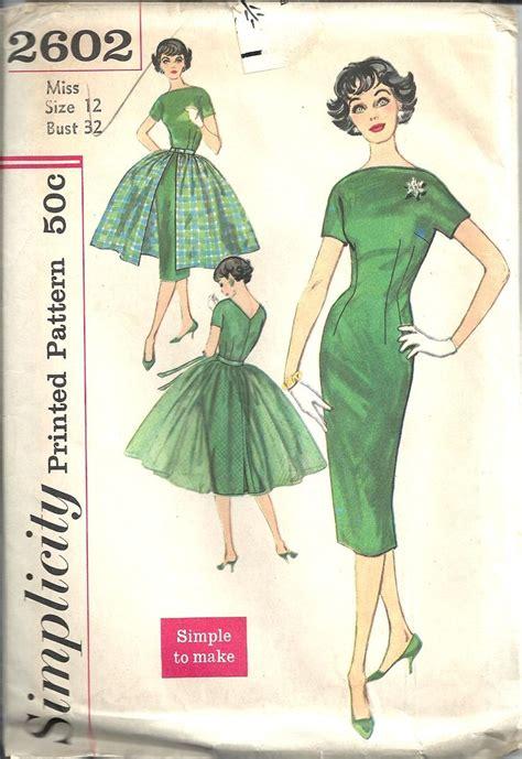 vintage pattern simplicity vintage sewing pattern dress simplicity 2602 sewing