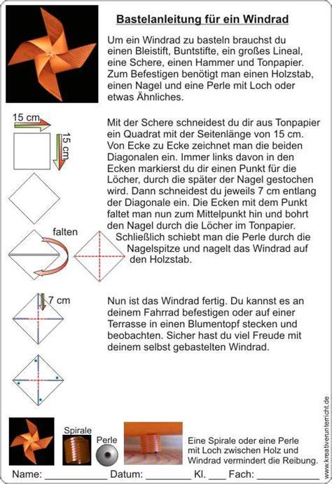 Lebenslauf Bild Notwendig Windrad Basteln Und Beschreiben Vorgangsbeschreibung Mit