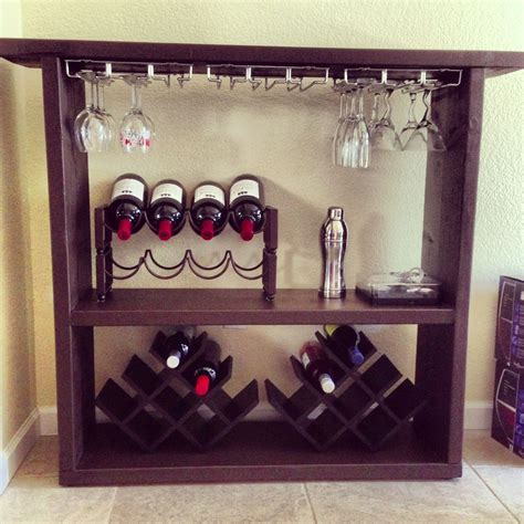 DIY wine bar 2x12 lumber cut to size & painted Attached