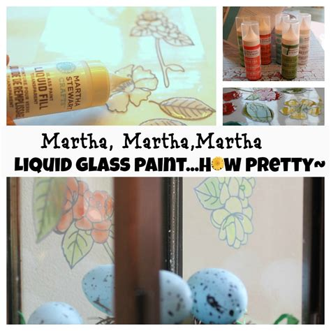 martha stewart crafts glass paint liquid fill pretty craft project debbiedoo s