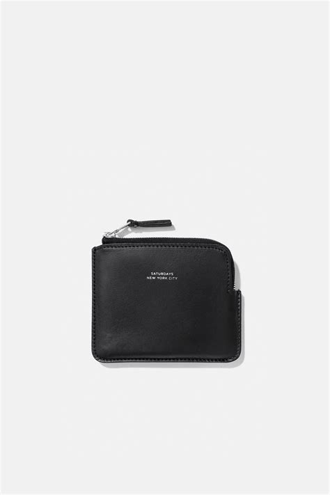 Half Zip Wallet half zip wallet black saturdays nyc