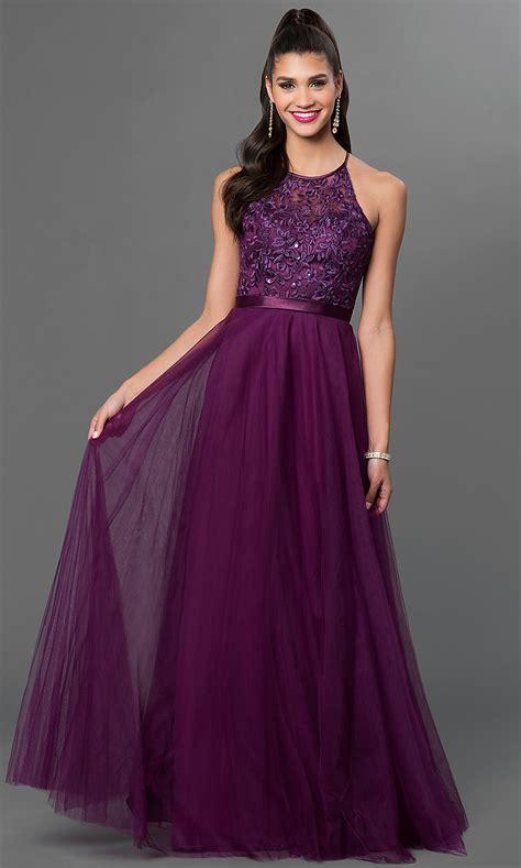 eggplant colored dresses mori illusion top prom dress promgirl