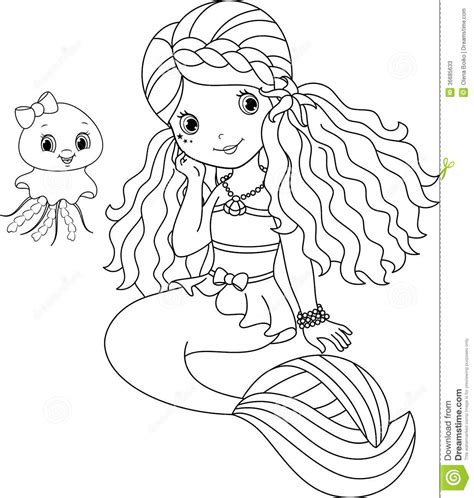 coloring page baby mermaid fairy mermaid coloring pages vitlt com