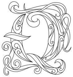 Customer Letter Illumina Calligraphie On Flower Clipart Illuminated Letters And Illuminated Manuscript
