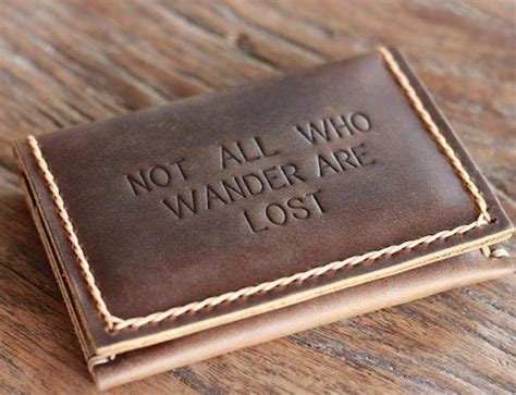 Wander Are Lost not all who wander are lost wallet 187 gadget flow