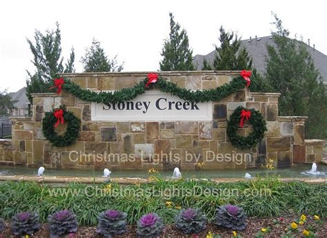neighborhood entrance christmas decorations subdivision entrance sign harga motor honda oak island decorations