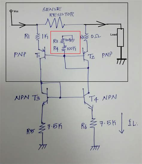 transistor bjt analisis bjt analysis of the current mirror pnp transistor section electrical engineering stack exchange