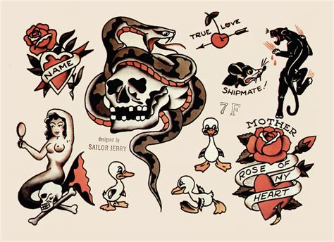 tattoo flash sailor jerry sailor jerry tattoo flash tattoo likes and reference