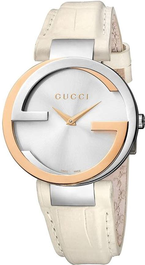 Gucci Rosegold Cover White gucci interlocking 37mm crocodile leather in white white stainless steel gold