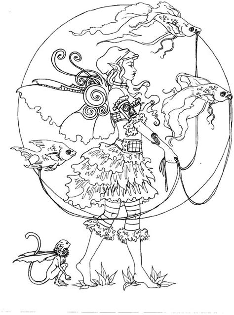 coloring pages for adults cute de 108 b 228 sta artist amy brown coloring bilderna p 229