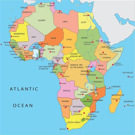 africa map updated africa map countries and capitals search when