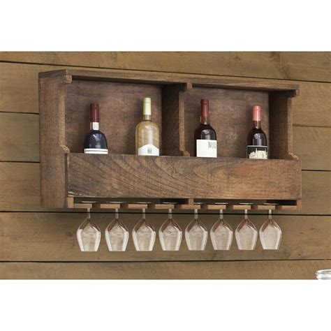 alaterre furniture pomona reclaimed wood wine rack
