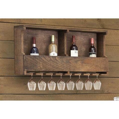 Home Depot Wine Rack by Alaterre Furniture Pomona Reclaimed Wood Wine Rack