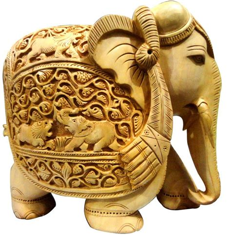 indian wooden carving elephant handicraft home decor items