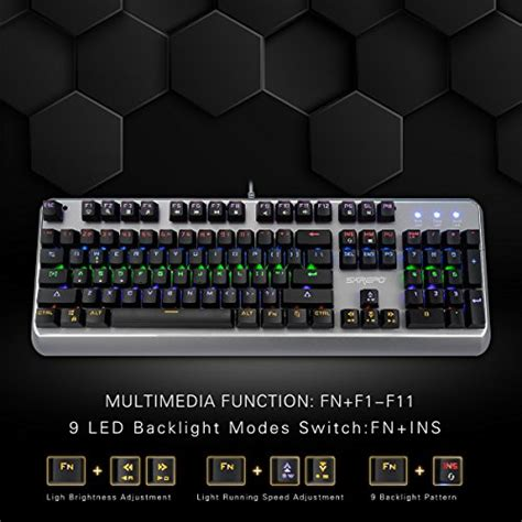 Gaming Keyboard Metal Multicolor Backlight Led Tx50 Black sarepo mechanical gaming keyboard mechanist blue switch
