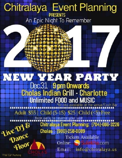 new year event planning new year 2017 chitralaya event planning in