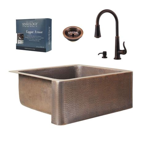 valence rustic kitchen faucet in copper brass farmhouse sinkology pfister all in one monet copper farmhouse 25 in