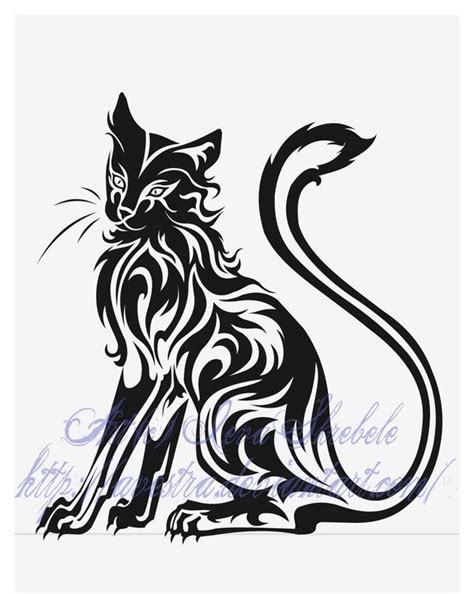 tribal cat tattoos designs the 25 best cat silhouette tattoos ideas on