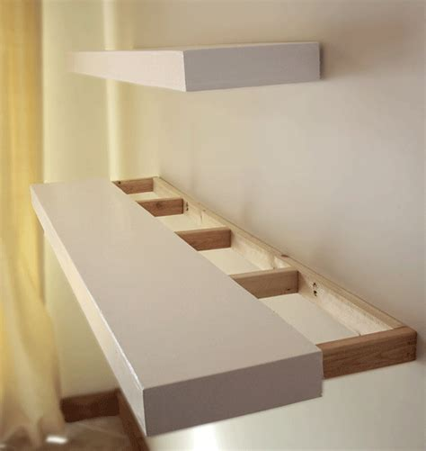 diy floating bookshelves white floating shelves diy projects