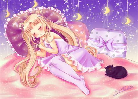 Kaos Bunny Sleep On Moon sleeping sailor moon by nawal on deviantart