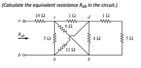 how to measure the resistance of a resistor calculate the equivalent resistance rab in the chegg