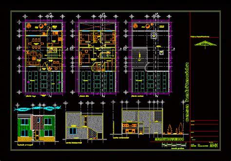 story house  garden  dwg plan  autocad