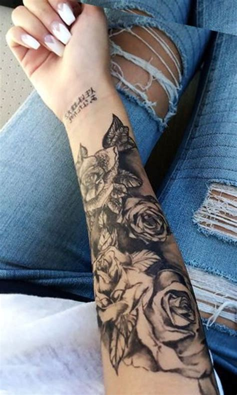 half open rose tattoo best 25 forearm sleeve tattoos ideas on half