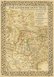1881 lonesome dove great cattle trails map