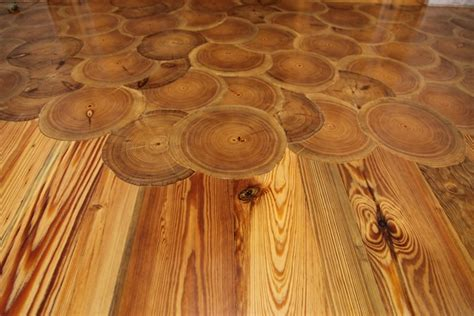 Log Floor | log end flooring natural building blog
