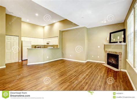 wohnung leer empty apartment with open floor plan living room with