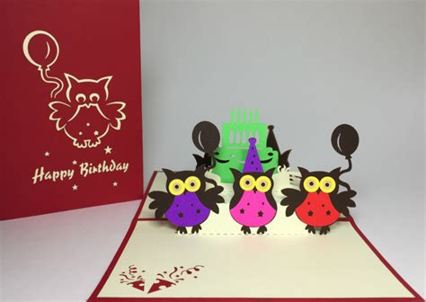Owl Pop Up Card Template by 10 Handmade Card Designs Free Premium Templates