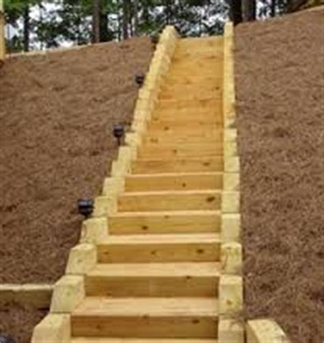 Landscape Timbers Slope 26 Best Images About Timber Stairs On