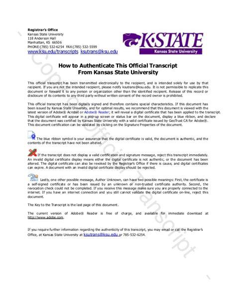 Kennesaw Acceptance Letter nicholas santoro transcript