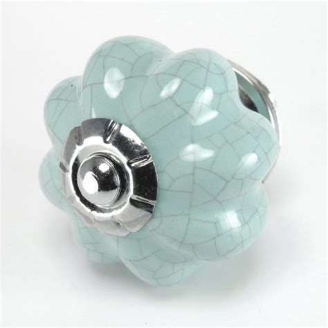 buy blue crackle ceramic knob kitchen drawer pulls