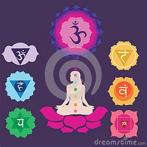 chakras  yoga print royalty  stock images