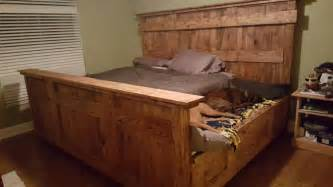 Diy King Size Platform Bed Storage by This Wooden King Bed Frame Leaves Extra Space For Your Dogs