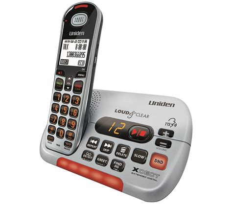 phones for hearing impaired uniden visual and hearing impaired phone cordless 1oo appliances
