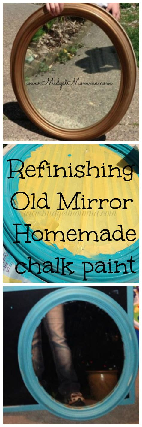 diy chalk paint mirror refinishing mirror with chalk paint