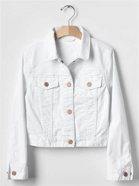 Gap White Denim Jacket gap 1969 stain resistant denim jacket in white