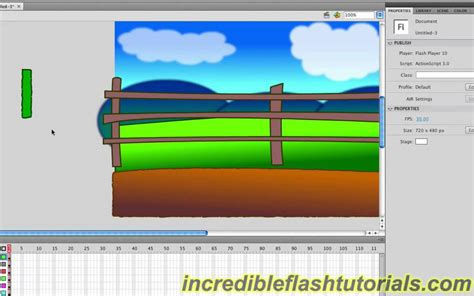 adobe flash tutorial how to design a cartoon environment