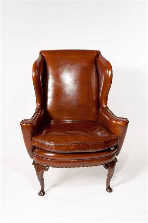 Superb Antique Walnut Leather Wing Superb Quality 19th Century Antique Leather Wing Chair At 1stdibs